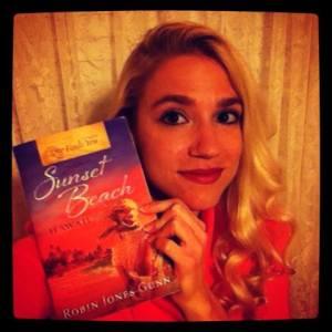 Sarah with RJG book